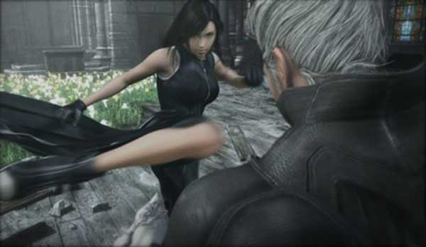 Advent Children: Tifa kick