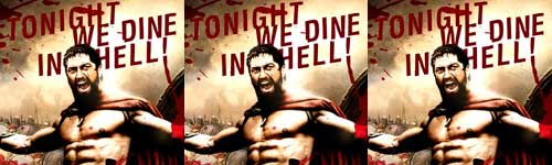 Tonight we dine in hell thrice