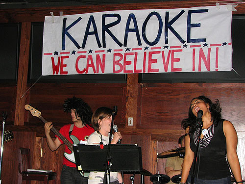 Karaoke we can believe in